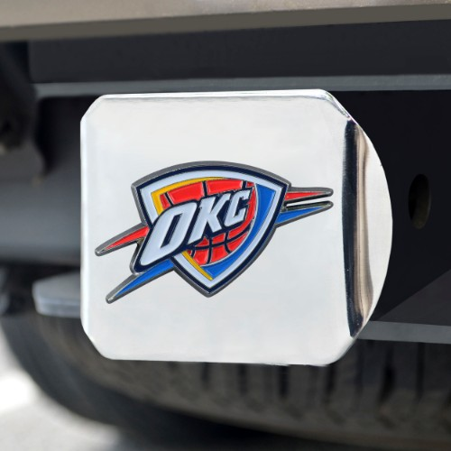 NBA - Oklahoma City Thunder Color Hitch Chrome 3.4