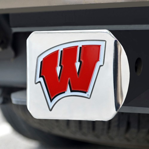 University of Wisconsin Color Hitch Chrome 3.4