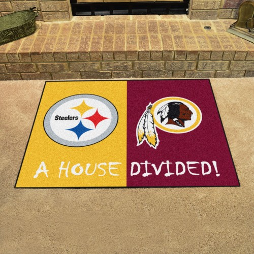 "NFl - Steelers - Washington House Divided Rug 33.75""x42.5"""