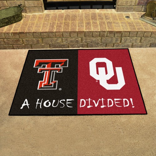 House Divided: Texas Tech / Oklahoma House Divided Rug 33.75